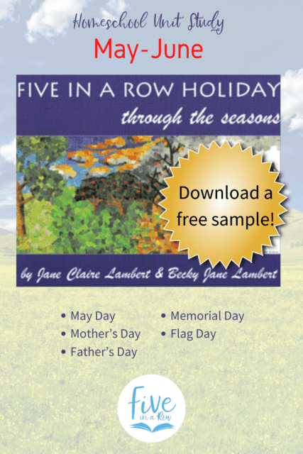 Five in a Row Holiday Through the Seasons. You don't want to miss these! Includes May Day, Mother's Day, Father's Day, Memorial Day and Flag Day.