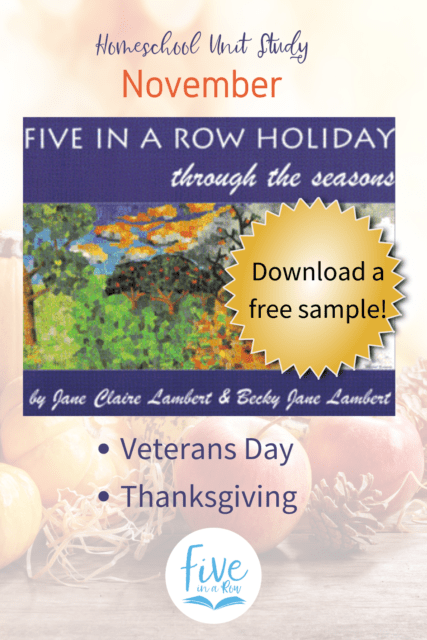 Five in a Row Holiday Through the Seasons. You don't want to miss these! November includes Thanksgiving and Veterans Day.