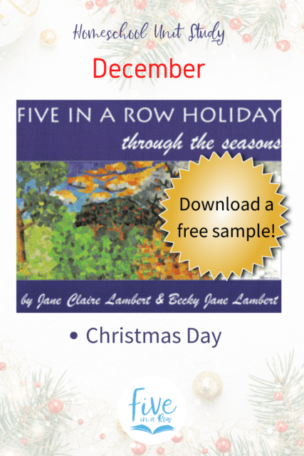 Five in a Row Holiday Through the Seasons. You don't want to miss these! December Edition