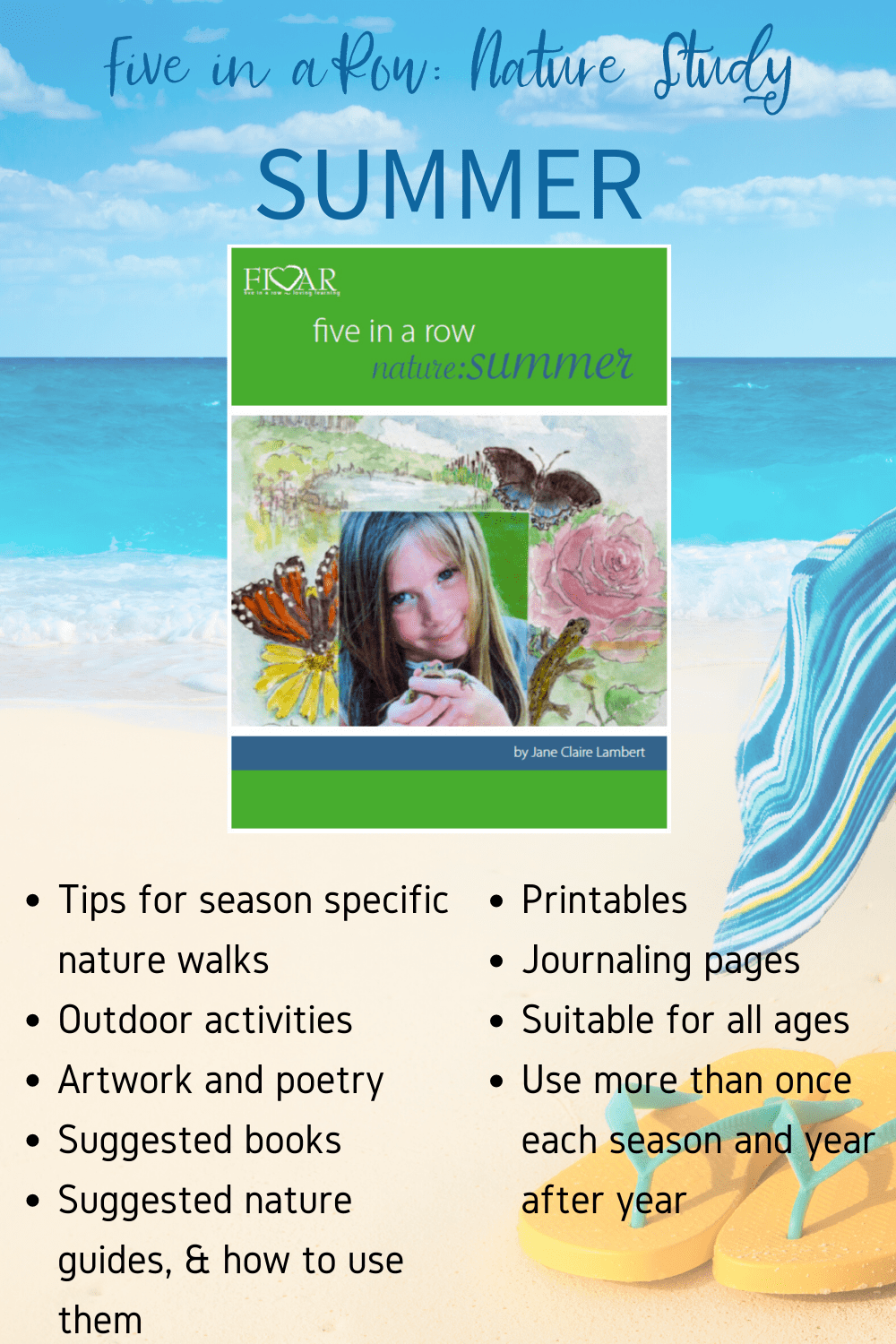Knowing that planning your own nature study can be a time-consuming task, Jane has written a nature study for each season to encourage your entire family in your exploration of all four seasons! Check out our Nature Guide: Summer