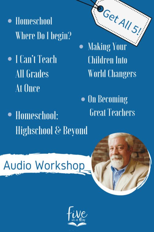 Audio set of 5 messages from Steve Landrum from the beginning to high-school, teaching multiple grades character training. Steve takes the overwhelm away!