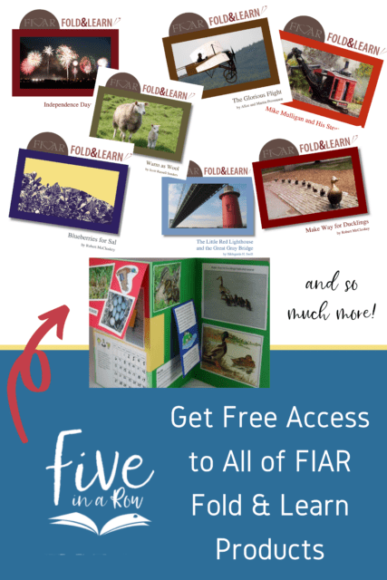 Get access to ALL of our Fold & Learn Products from Five in a Row!