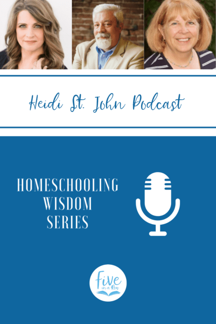 Do you love podcasts?  Do you love homeschool podcasts?  Well, you are in for a treat.  Visit fiveinarow.com to get more information