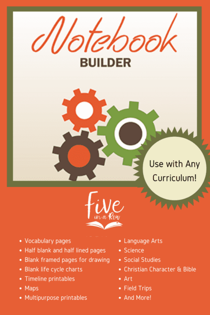 Use this FIAR Notebook Builder for ANY curriculum! Loaded with printables for all subjects!