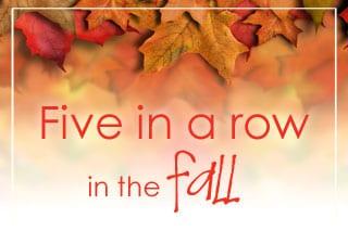 Five in a Row Fall Autumn