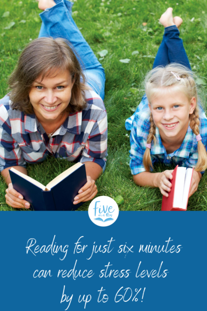 Five in a Row shares how to use reading to reduce stress.