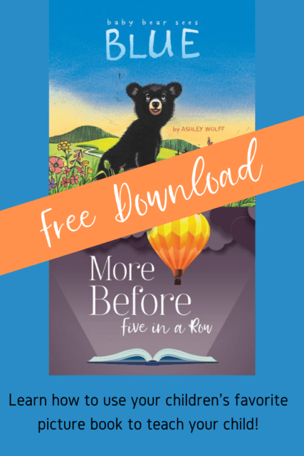 Get your free unit study from Five In a Row based on the children's book Baby Bear Sees Blue